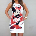 Robe Femme Women Dress Cute Cartoon Mouse Print White Dress Shirt 2017 Fashion Summer Ladies Casual Beach Sundress Dress
