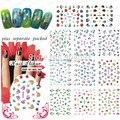 NUEVA LLEGADA! 20 hoja/lot. Betty y peces tropicales, 2 3DNAIL STICKER Nail Fashion Film. Nail Art Sticker + Separado Embalado