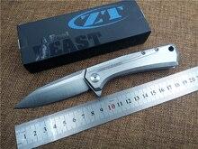 Cuchillo plegable lámina D2 ZT0808 ball bearing flipper cuchillo que acampa de bolsillo cuchillo EDC Al Aire Libre táctico de la supervivencia herramienta de mano