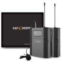 K & F концепция 70 м М камера Microfono беспроводной микрофон петличный приемник + передатчик запись радио низкая шум DSLR