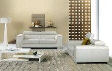 Vaca genuino / real sofás de cuero salón sofá seccional / sofá de la esquina de muebles para el hogar sofá moderno reposacabezas funcional 2 + 3