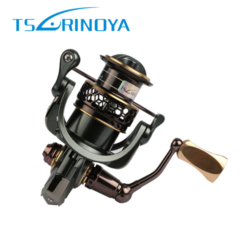 TSURINOYA Jaguar 2000/3000 Series Spinning Fishing Reel 9+1BB Double Metal Spool Lure Fishing Rock Pescaria Reel Molinete Pesca tsurinoya tsp3000 spinning fishing reel 11 1bb 5 2 1 full metal max drag 8kg jig ocean boat lure reels carretes pesca molinete