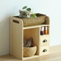 Creative desktop office drawer storage box wood bedroom debris storage rack office desk finishing box wx10231620