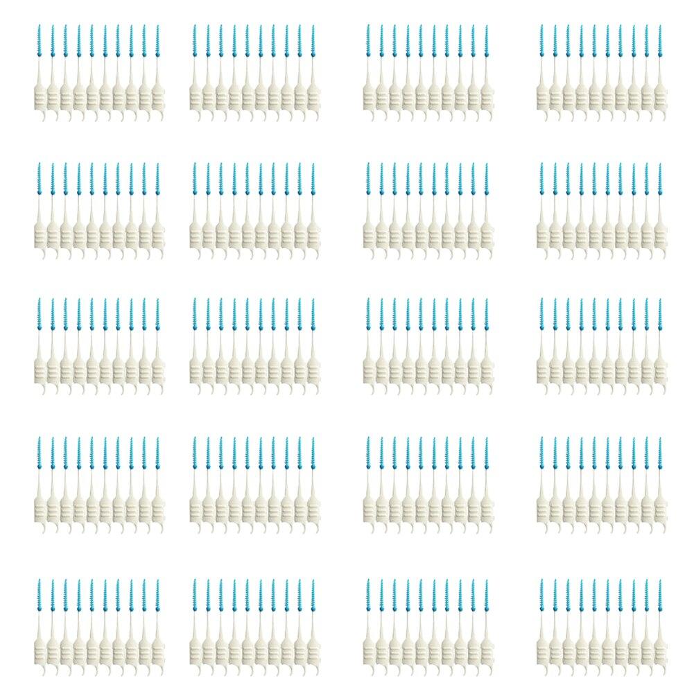 200pcs Dental Flosser Interdental Brush Clean Teeth Stick Toothpicks Floss Pick Oral Hygiene Tooth Dental Floss Oral Deep Clean 2017 teeth whitening oral irrigator electric teeth cleaning machine irrigador dental water flosser professional teeth care tools