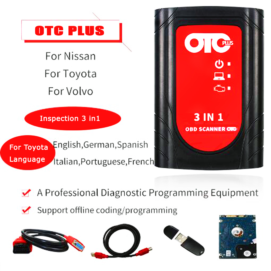 Image 2 - professional obd2 automotive scanner IT3 V14.10.028 Global Techstream OTC Plus 3 in 1 OBDII  OTC Scanner car diagnostic tool-in Car Diagnostic Cables & Connectors from Automobiles & Motorcycles