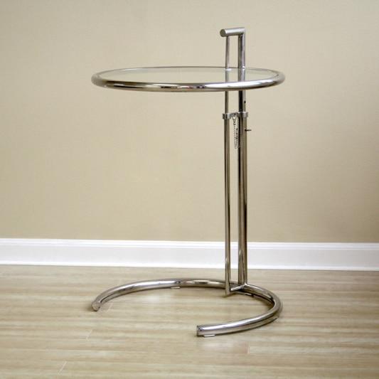 Scandinavian Modern Minimalist Stainless Steel Glass Coffee Table