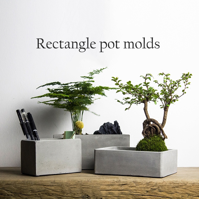 Diy Cement Planters: Aliexpress.com : Buy Rectangle Flower Pot Molds Silicone