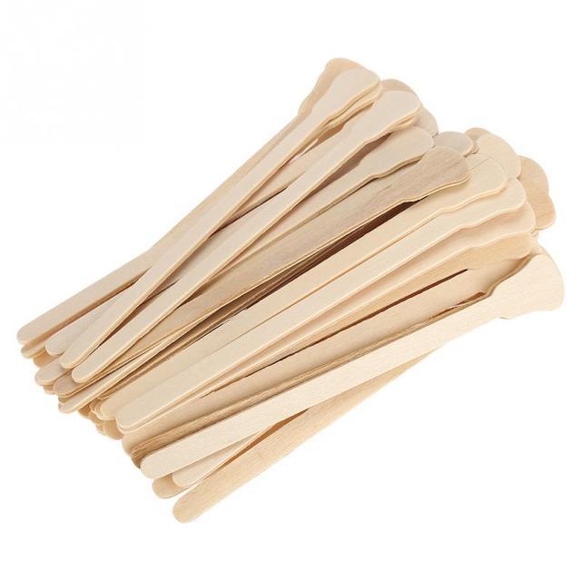 50 Pcs/10 pcs Ahşap Ağda Balmumu Spatula Dil Tek Kullanımlık bambu sopalar Saç temizleme kremi Ağda Vücut Saç Bakımı Için Sopa