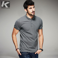 KUEGOU 2016 Summer Mens Casual Polo Shirts 100 Cotton Brands Clothing Gents Luxury Solid Short Sleeve
