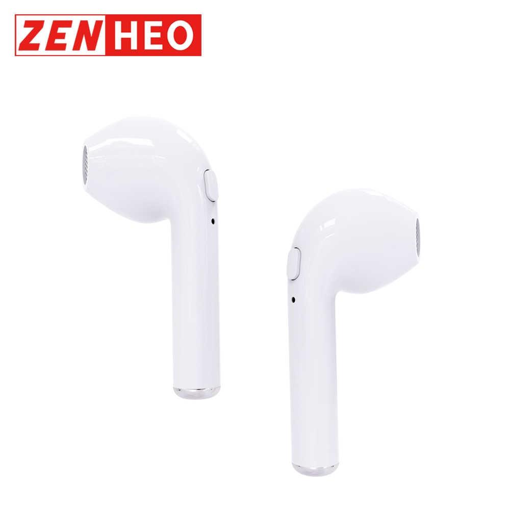 4ccae1a305f ZENHEO Ear Pods i7 TWS Bluetooth Earphones Wireless Cordless 50mAh Battery  Headset Mic for iPhone Xiaomi