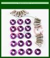 16 PC Purple Lingotes De Alumínio Fender/Bumper Washer Parafuso Motor Bay Dress Up Kit
