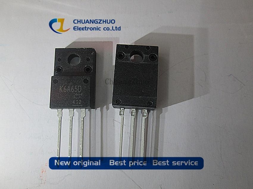 10pcs TK6A65D K6A65D TO-220 MOSFET N-Ch FET 650V 4.0s IDSS 10 UA .95 Ohm New Original Free Shipping