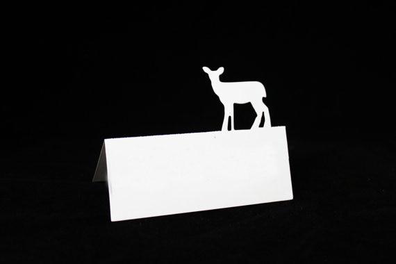 Levendig Hinde, Vrouwelijke Herten Rustieke Naamkaartjes Baby Shower Party Tafel Nummer Kaart Verjaardag Zitplaatsen Escort Markers Goed Voor Energie En De Milt