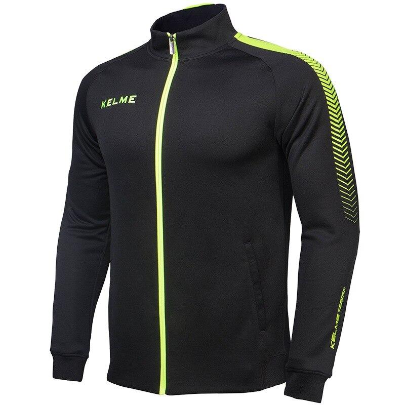 K077 kelme homens manga longa gola respirável à prova de vento esportes  blusão jaqueta de treinamento de futebol de malha preto em Camisas de  futebol de ... cc852bc2fd43e
