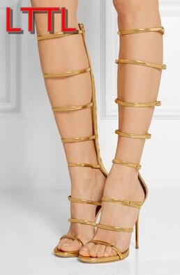 Popular Strappy Gold Heels-Buy Cheap Strappy Gold Heels lots from ...