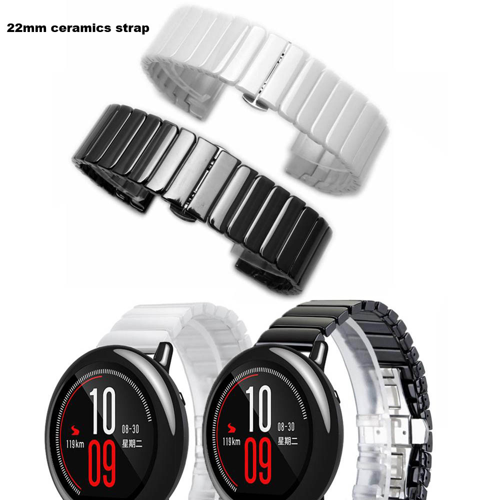 Amazfit Watch Ceramics Correa Amazfit Pace Strap Accessory for Xiaomi Huami Amazfit Stratos 2 Bracelet Watchband Samsung Gear S3