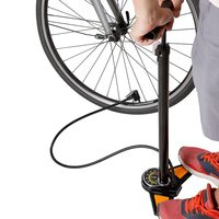 Bike Floor Pump 160PSI Foot Bike Pump MTB Road Bike Floor Pump Presta Schrader Valve Manual Tire Inflator with Gauges