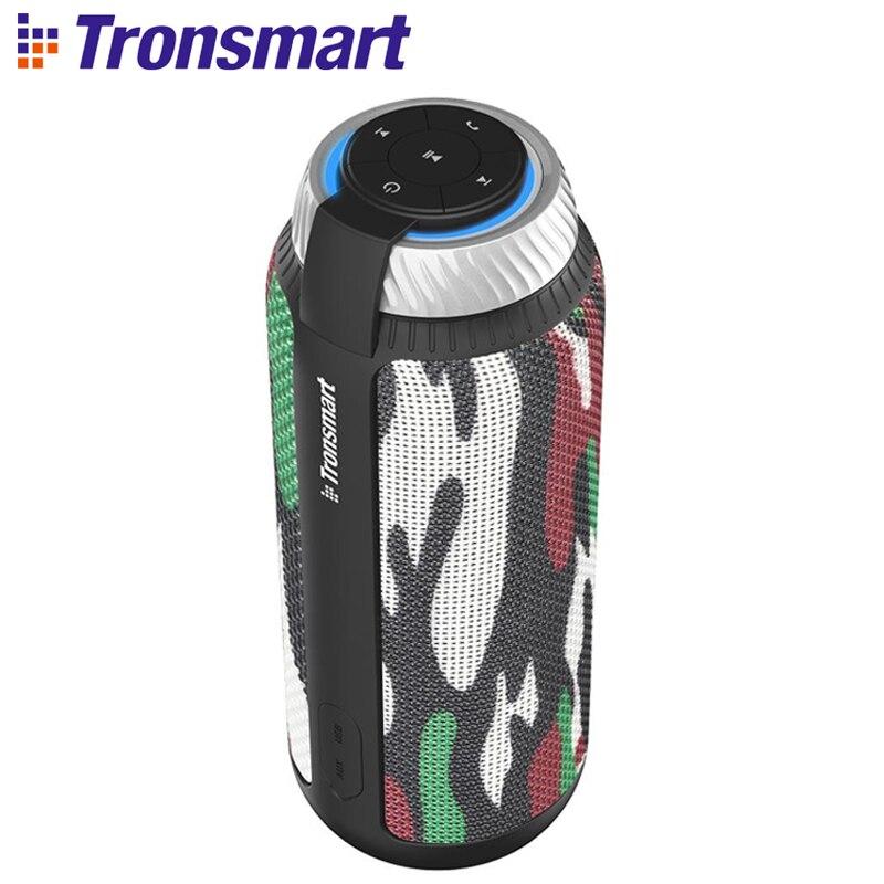 Tronsmart Element T6 25 W haut-parleur Portable Bluetooth avec son Surround de 360 degrés et Microphone intégré Camouflage pour la musique