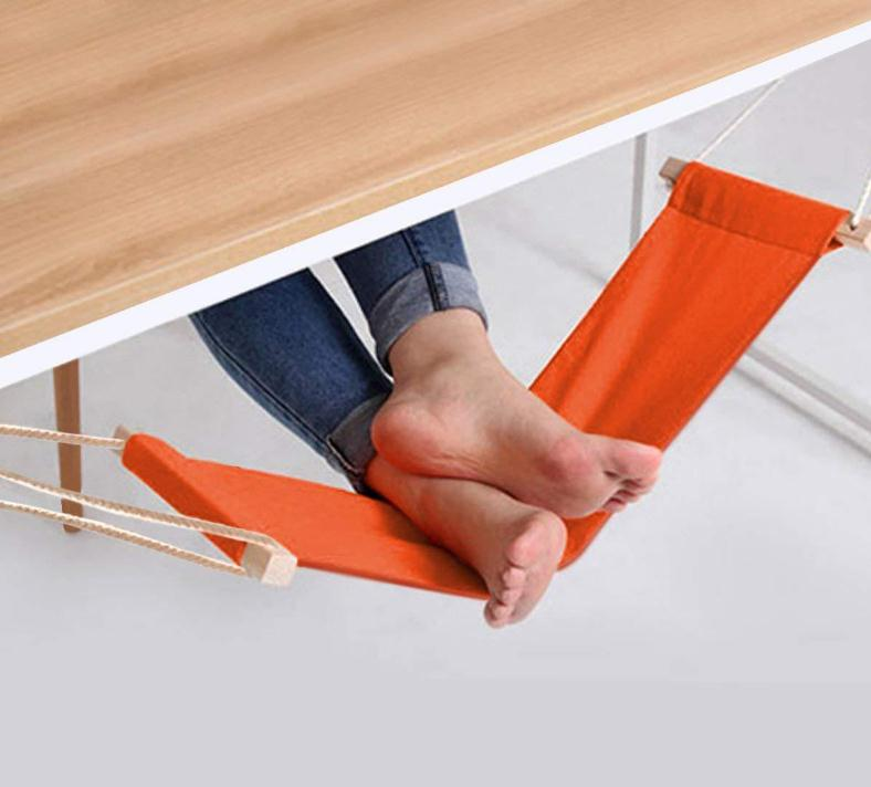 65*17cm Desk Feet Hammock Novelty Mini Office Foot Rest Stand Desk Leisure Home Furniture Hammock Foot Chair Care Tool SN1454 2016 new originality novel desk rest on foot small hammock relieve foot fatigue foot pedal 65 17cm