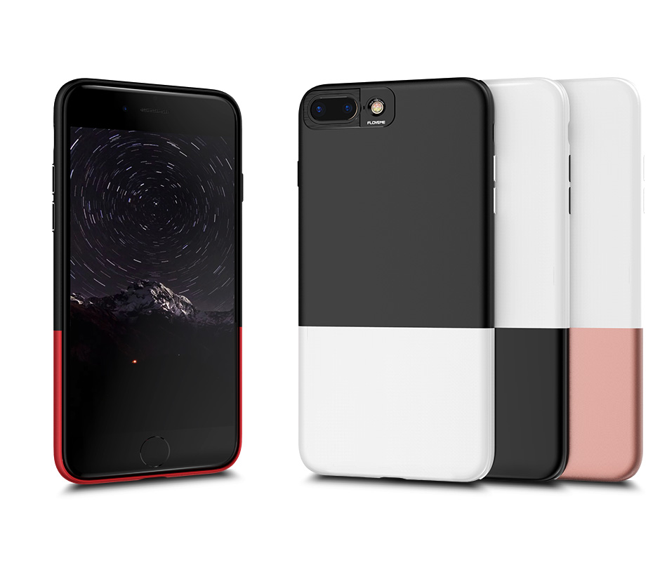 FLOVEME Fashion Contrast Hybrid Phone Cases For iPhone 6 7 6S Plus Higher Camera Protection Hard Hit Color Cover For iPhone 6 7 (6)
