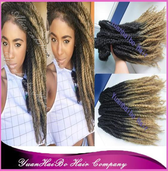 Stock 20inch Folded Two Tone Black Blonde Synthetic Ombre Box