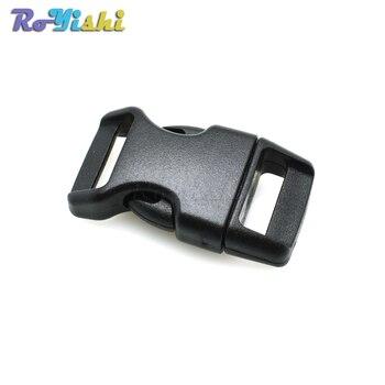 """1000pcs/pack 5/8""""(15.8mm)Contoured Curved For Paracord Bracelet & Dog Harness Plastic Buckle Black Backpack Straps Webbing"""