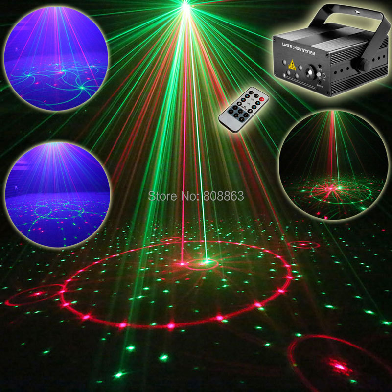 ESHINY Mini R&G 5 Lens Laser 96 Patterns Projector Blue Led Club Home Party Bar DJ Disco Xmas Dance Lighting Stage Light T90