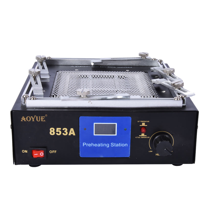 110V/220V Infrared Digital Preheating Station Table Rework Station Soldering Station IR Preheating Heating Disk Area 130*130 Mm