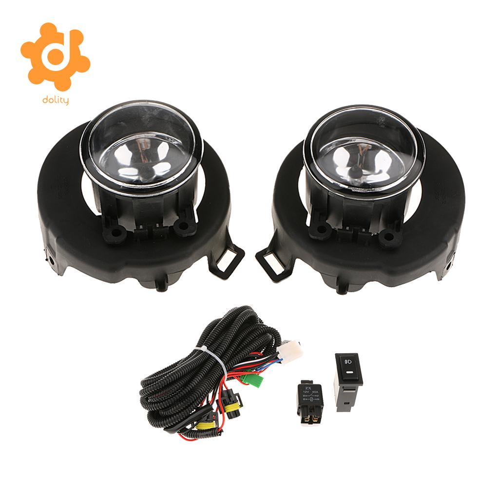 2 Pieces Car Front Fog Lights for Nissan Frontier Navara D40 2005 - 2014 for nlssan navara d40