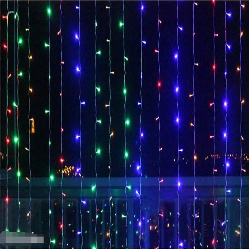 6 м x 3 м 600 светодиодный S светодиодный сосулька шторы водонепроницаемый Фея Рождественские огни свадьба домашний сад Вечерние украшения огн...
