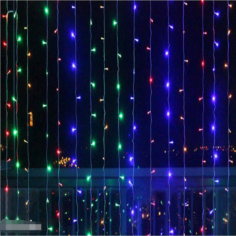 все цены на 6Mx3M 600LEDS led icicle curtains waterproof fairy lights Christmas lights wedding home garden party decoration lights онлайн
