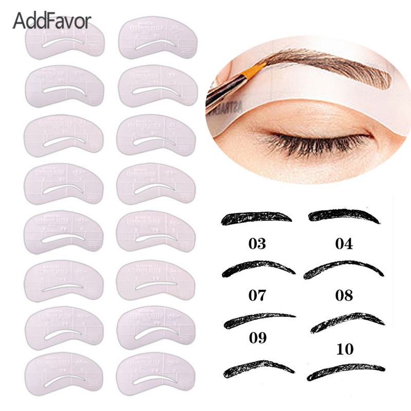 Buy addfavor 24pc set eyebrow template for Eyebrow templates printable