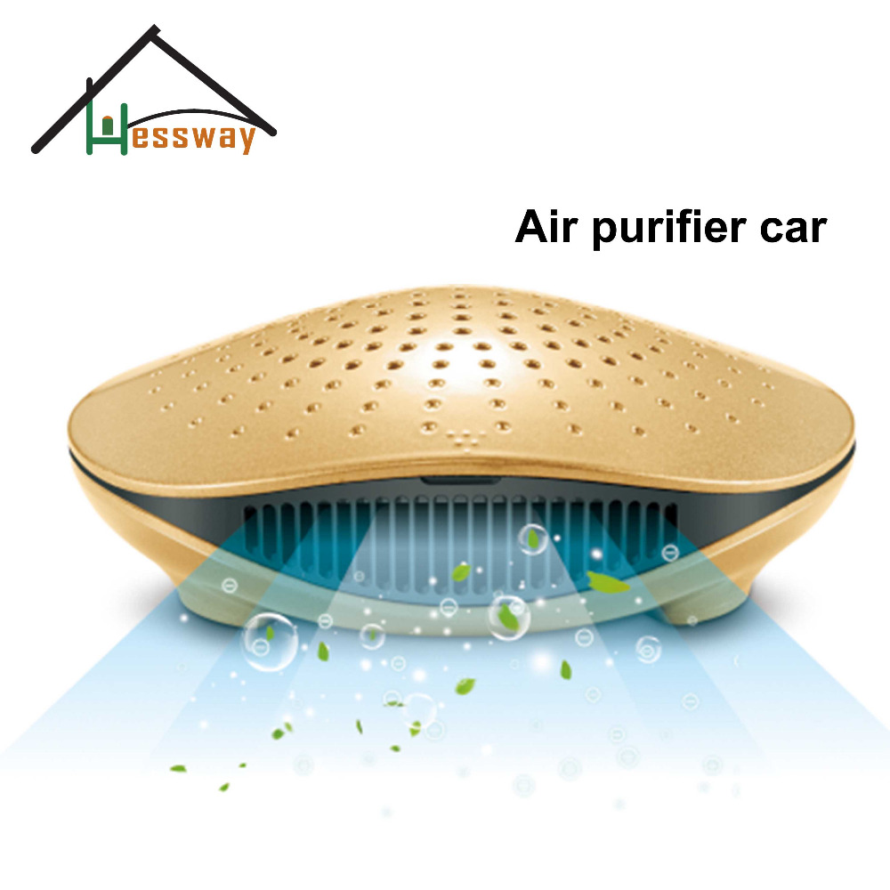 Mini air filter hepa ionizer air purifier aroma for car protective flip open pu leather case w holder card slot for iphone 5 5s light brown