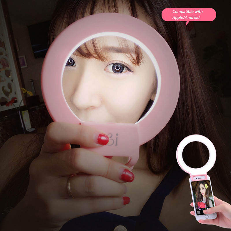 Roadfisher Photography Ring Led Light Lamp Flash Lighting Supply For Cell Mobile Phone Self Anchor Live Show Broadcast Selfie Camera/video Bags