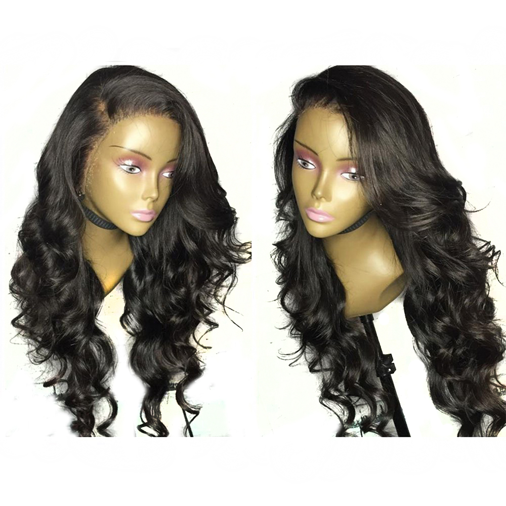 Eversilky Pre Plucked Full Lace Human Hair Wigs For Women Body Wave Natural Color Brazilian Remy Hair Wig with Baby Hair-in Full Lace Wigs from Hair Extensions & Wigs    1