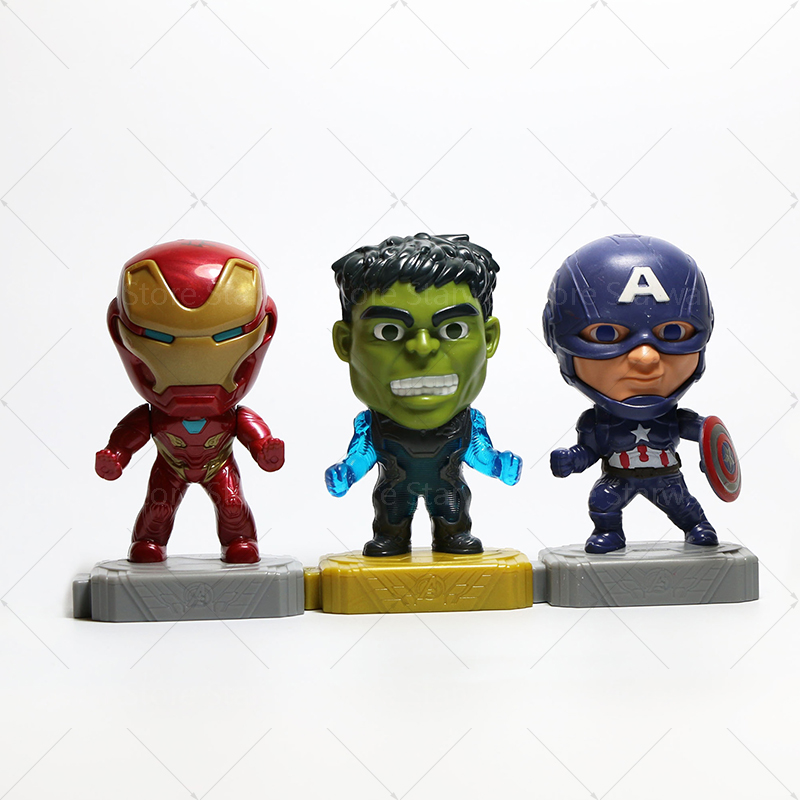 2019 The Avengers War Infinity Super Heroes Helmet Iron Q Version Of The Avengers Marvel Iron Man Hulk Captain America Toys