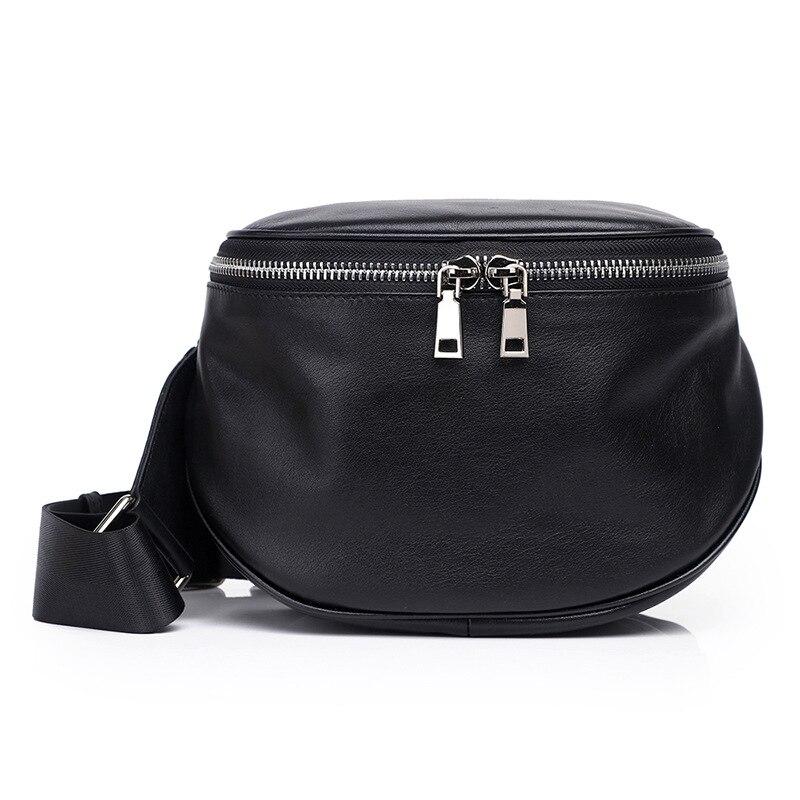 Rond Véritable Femmes 2019 Épaule Rétro Sacs Sac sac Oblique Black De Mode Unique Cuir En Pour Semi Cowskin qpwpUzFa
