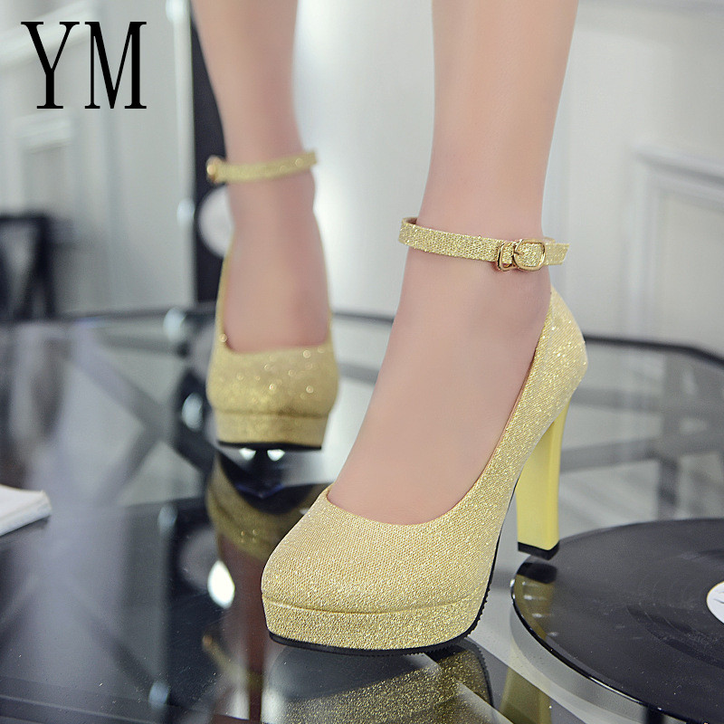 Woman Pumps Autumn Ankle Strap Platform Thick Heel shoes ol Patent leather High-heeled Female trend of Ultra High Heels ShoesWoman Pumps Autumn Ankle Strap Platform Thick Heel shoes ol Patent leather High-heeled Female trend of Ultra High Heels Shoes