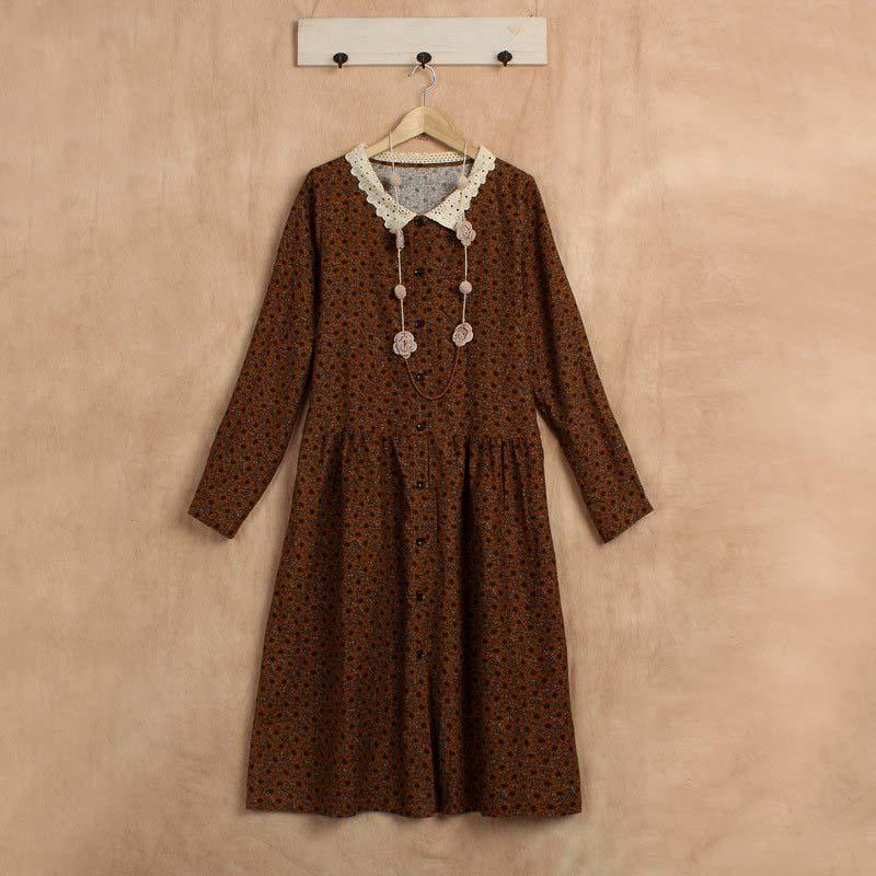fall casual boho clothing linen jurk roupa feminina mori girl kleider hippie knitted vestido floral festa