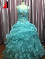 New cheap mint green quinceanera dresses masquerade ball gowns ruffles sweet 16 dress long prom dresses.jpg 250x250