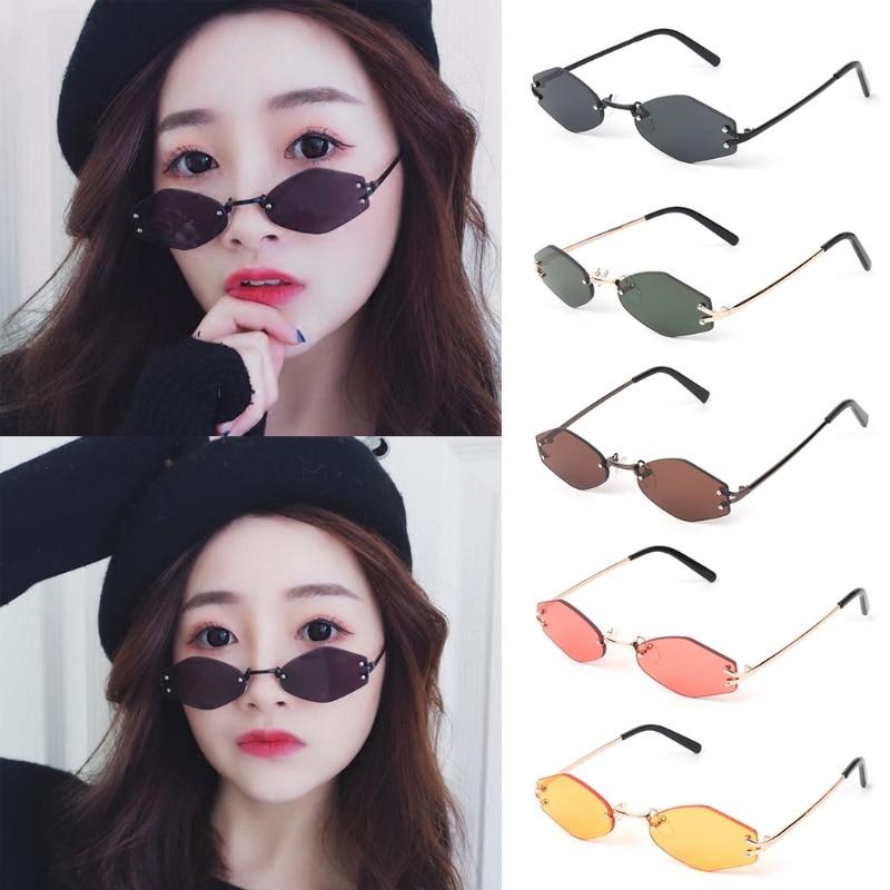 Marke Mode 5 Klar Geometrische Shades 2 Randlose Sonnenbrille 3 Designer Unisex Vintage OI6z5n5a