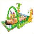 Floresta tropical do bebê crawl mat atividade bebê jogo de música tapete tapete rastreamento 90*61 cm