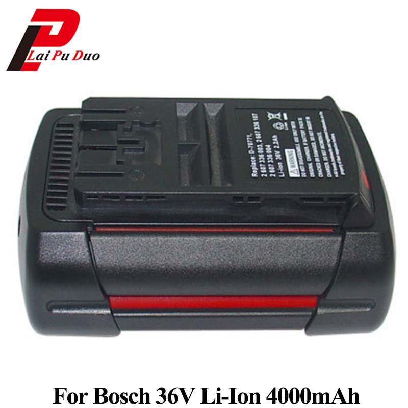 36V 4.0Ah Li-Ion Replacement power tool battery For Bosch: 2607336003,BAT810,11536C,BAT837,2607336107,D-70771,1651K mallper bst 38 replacement 3 7v 720mah li ion battery for sony ericsson c905 k770i k850i k858