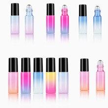5 мл градиентный цвет эфирное масло флакон духов ролик Толстый Стеклянный рулон прочный для путешествий косметические контейнеры