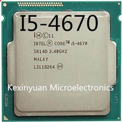 Процессор Intel Core i5-4670 i5 4670 четырехъядерный процессор LGA1150 настольный процессор 100% работает правильно