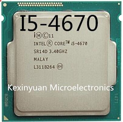 Intel Core i5-4670 i5 4670 Processador Quad-Core LGA1150 Desktop Processador CPU de Desktop 100% funcionando corretamente