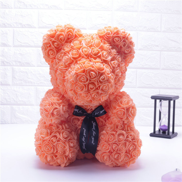 Ingenious 12pcs Romantic Rose Soap Flower Gift Box With Plush Animal Toys Bear Doll #40-27 For Fast Shipping Beauty & Health