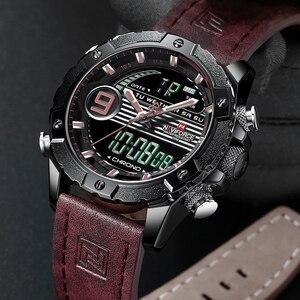 Image 4 - NAVIFORCE Luxury Brand Mens Sport Watches Men Quartz LED Digital Clock Male Military Waterproof Leather Watch Relogio Masculino