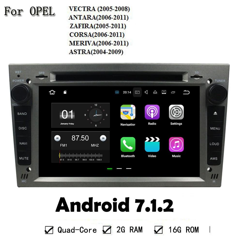 Car Multimedia Player Radio Stereo Android 7.1.2 2GB RAM GPS Navi Head Unit For Opel VECTRA ANTARA ZAFIRA CORSA MERIVA ASTRA