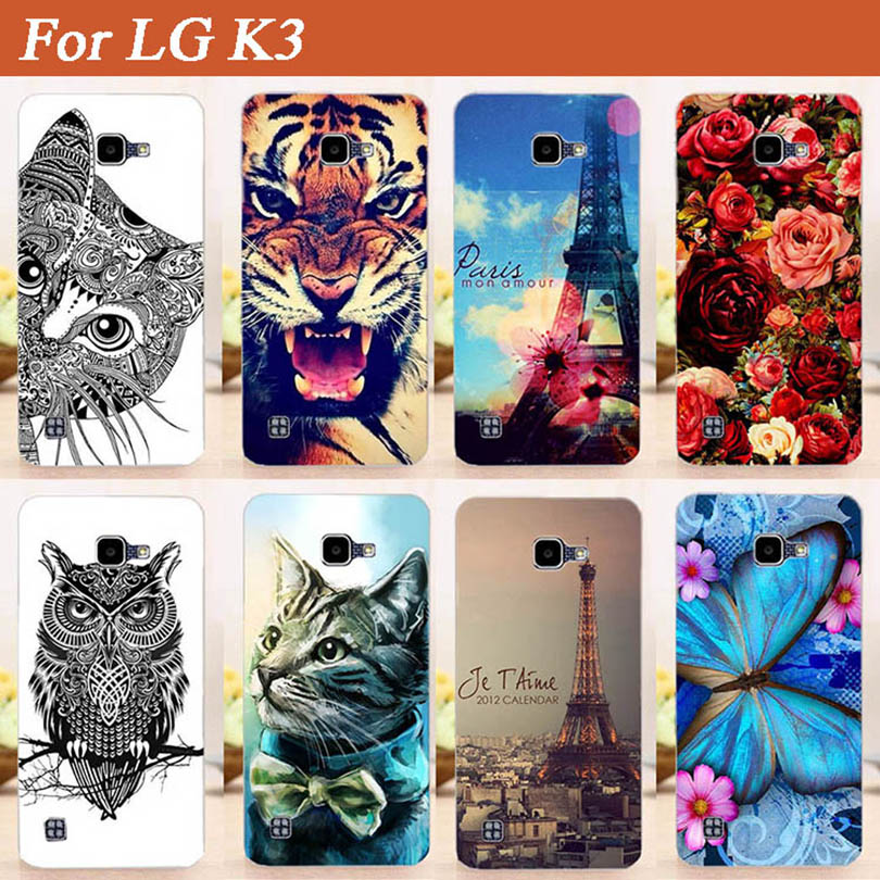 Beautiful SOFT TPU DIY Painting Back Cover Case For <font><b>LG</b></font> K3 LTE <font><b>K100</b></font> K100DS LS450 4.5 inch 3G New Fashion Patterns Phone Cover image